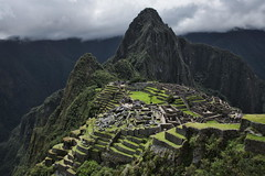 Postcard Shot (Greg - AdventuresofaGoodMan.com) Tags: cloud peru southamerica fog inca stone ruins citadel bricks landmark machupichu mystical machupicchu macchupicchu huaynapicchu incan worldwonder