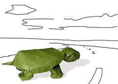 Tortue/ turtle (Lionel Albertino) (Danielle Verbeeten) Tags: paper origami schildpad turtle papier folding albertino turtue