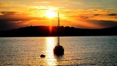 Golden dusk on Adriatic sea (malioli) Tags: sunset sea sun canon island europe dusk croatia down adriatic adriaticsea hrvatska malilošinj lošinj