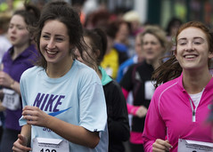 Doing it with smiles (Frank Fullard) Tags: street ireland portrait irish smile sport lady happy marathon candid mayo runner fundraiser castlebar fullard frankfullard