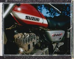 1971 Suzuki TS250 Savage (RichardGlenSailors) Tags: polaroid automatic fujifilm 100 suzuki savage fp100c ts250 polaroidcars