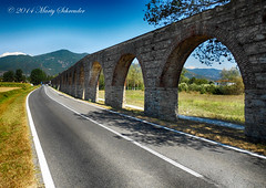 Look through any window - Arches Pisa (schreudermja) Tags: road blue italy wall arch arc sunny pisa hdr