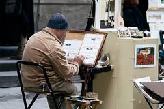 (Giulia Rossi Ferrini) Tags: street photography photo florence artist centro ponte painter firenze aprile maggio vecchio uffizzi 2014