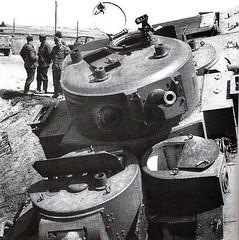 Abandoned T-35 multi-turret heavy tank near road Lviv-Brody, July 1941