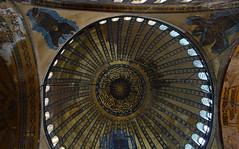 Dome, Hagia Sophia (profzucker) Tags: architecture mosaic minaret istanbul mosque dome ottoman orthodox hagiasophia byzantine constantinople easternorthodox justinian isidore revetment miletus tralles pendentive semidome anthemius pencilminaret