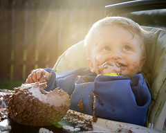 Charles 1st birthday (ashlee hutchinson) Tags: boy sunset food sun canada cake parents cutie foodies flare able