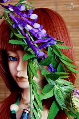 Violet Bells (Photo_Shigatsu) Tags: blue red plant flower green nature grass doll bell violet elf resin florews