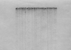 """Sin título"", papel japonés mecanografiado, 90 x 25 cm. Tito Pérez Mora, 2013"