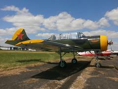 G-YAKX Yak 52 (Aircaft @ Gloucestershire Airport By James) Tags: yak james airport gloucestershire lloyds 52 egbj gyakx