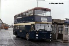 South Notts 98, Loughborough Bus Station, 30-03-1991 (MidlandDeltic) Tags: bus loughborough fleetline northerncounties damler crl6 southnottsbusco nnn98k