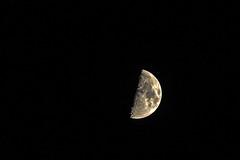 Half moon (mon_ster67) Tags: moon night canon mon lunar halfmoon darksideofthemoon ©mon