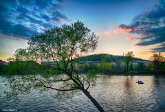 podvečer u Vltavy_KDA0231_HDR2_PS_W (kadofr) Tags: cz czechrepublic evening prague river spring sunset vltava