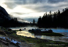 YELLOWSTONE NATIONAL PARK ... EARLY MORNING RAIN (Aspenbreeze) Tags: mist storm fog clouds rural sunrise river dawn country stormy wyoming madisonriver aspenbreeze moonandbackphotography bevzuerlein moonandbackphotos moonandbackphotosa