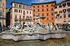 Fountain of Neptune - Rome (Lorenzoclick) Tags: italy rome roma monument fountain architecture canon artistic 5d fontana navona canon5dmarkiii canonef2470mmf28iilusm