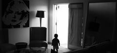 In esplorazione (CristianoRusso) Tags: travel vacation bw usa silhouette photo kid leo florida miami uploaded:by=flickrmobile