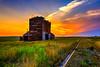 Okaton Sunset (kendra kpk) Tags: sunset summer grass southdakota elevator july ghosttown 2014 okaton dakotawindsphotography kendraperrykoski