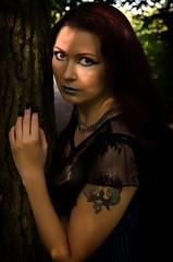 The Eyes (The Druidess Of Midian) Tags: portrait forest silver lace gothic goth longhair silk redhead longneck busty eyeliner elegance ifyougodowntothewoodstoday blacklace evensong inthewoods dragontattoo paleskin smoothskin bluelips silvernecklace auburnhair bluecorset blacksilk gothicbeauty gothfashion highcheekbones gothicfashion thedruidessofmidian egyptianeyes slimwaist alternativemodeling adayoutwithfriends longhairedlady corsert silverbelts healthylookingwoman dawnholdbrookmua cimagery