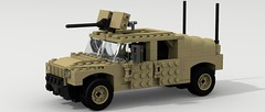HMMWV (2) (Tom.Netherton1) Tags: city classic digital vintage soldier army marine war gun power lego diesel pov designer military iraq machine historic legos soldiers marines heavy hummer h1 humvee hmmwv 1980s m2 troops gmc 1990s troop povray ldd