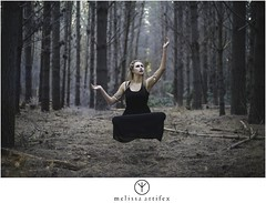 illusion (melissaartifex) Tags: newzealand christchurch woman black girl forest dark model meditate dress adult levitation dancer gypsy levitate melissaartifex melissaartifexphotography