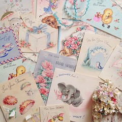 vintage greeting cards from the 40s-50s (holiday_jenny) Tags: wedding cute vintage cards shower ephemera kawaii collectible greeting