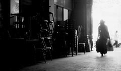 la voyageuse (asketoner) Tags: street city travel light paris france girl hat chairs traveller passage luggages