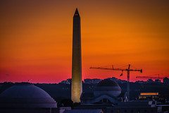 Washington Monument with Orange and Red Sunset - Washington DC (mbell1975) Tags: sunset red orange usa monument night america mall washingtondc us george dc washington districtofcolumbia memorial with unitedstates dusk 4th july national obelisk july4 presidental oblisk ilobsterit