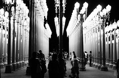 Lamps (SamLleva) Tags: light urban art lamp museum contrast canon dark losangeles antique lampost castiron restored dslr lacma wilshire t4i
