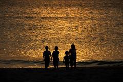 golden kids (maikepiel) Tags: ocean shadow sea beach silhouette strand gold meer schatten