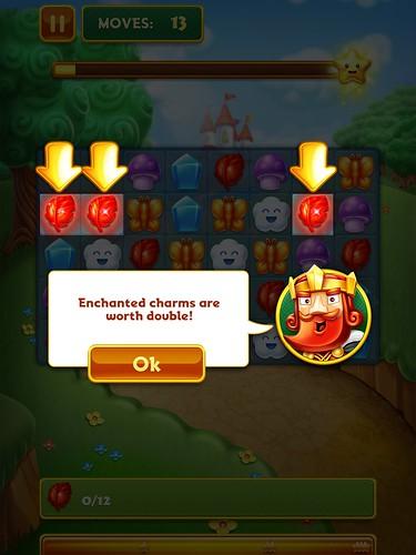 Charm King Tutorial: screenshots, UI