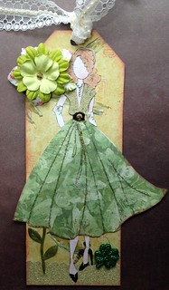 March Julie Nutting Doll Tag