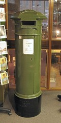 Ist National Standard Pillar Box (PB1/5) in  Stoke Museum ST1 (kitmasterbloke) Tags: post box letter pillar mail victorian green stoke potteries museum indoor 1860