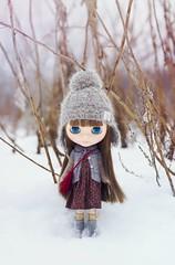 Walk in winter forest