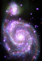 Chandra Celebrates The International Year of Light (BOT Yokel) Tags: m51 whirlpoolgalaxy