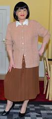 Birgit023841 (Birgit Bach) Tags: pleatedskirt faltenrock blouse bluse cardigan strickjacke