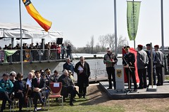 BG Jolly speaks at ceremony (U.S. Army Europe) Tags: nierstein germany worldwar ww2 75strong strong strongeurope amphibious nazivictims kornsand engineers 249th history historic rhine rhineriver usareur armyeurope europestrong