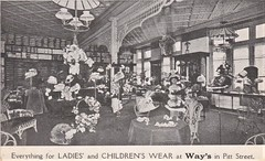 Ladies and Childrens Wear in Way's Store, Pitt Street, Sydney - 1908 (Aussie~mobs) Tags: 1908 shop store way pittstreet sydney australia vintage childrenswear ladieswear hats garments interior