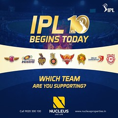 IPL 10 begins today. Which team are you supporting? #IPL #RCB #DD #KKR #KXIP #MI #SRH #RPS #GL  #Kerala #Kochi #India #Architecture #Home #Construction #Elegance #Environment #Elegant #Building  #Exquisite #Interior #Design #Luxury #Life #Gorgeous #LifeSt (nucleusproperties) Tags: life mi kochi elegant rps kkr kerala gl realestate lifestyle india luxury apartment nature architecture kxip interior dd gorgeous design elegance environment ipl srh building exquisite view rcb construction atmosphere home