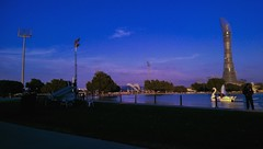 The Park (sarah.nadim96) Tags: mobilephotography doha photography travel colors blue lilac sky park nature lake swan duck aspire zone