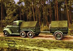 1939 Ford met DAF TRADO boogie en aanhanger (Vriendelijkheid kost geen geld) Tags: ford daf trado 1939 mobilisatie leger militairevoertuigen nederland 2ewereldoorlog