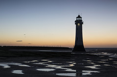 Perch Rock Lighthouse (David Chennell - DavidC.Photography) Tags: lighthouse wirral merseyside newbrighton bluehour perchrock silhouette perchrocklighthouse