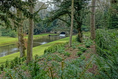 Rustic Bridge (Sparky the Neon Cat) Tags: europe uk united kingdom gb great britain england north yorkshire studley royal gardens water park rustic bridge