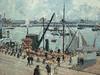PISSARRO Camille,1903 - L'Anse des Pilotes, Le Havre, Matin, Soleil, Marée montante (Le Havre) - Détail 09