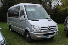 Panache, Hedge End PT13 PAN, Mercedes Sprinter at Cheltenham racecourse (majorcatransport) Tags: hampshirebuses panachehedgeend mercedesbenz mercedessprinter cheltenham