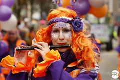 Colourful flutist (Frankhuizen Photography) Tags: colourful flutist fluit en tamboer korps st job groeëte rogstaekers optocht weert netherlands 2017 street straat fluitist kleurvol orange purple oranje paars woman vrouw portret portrait carnaval carnival vastenavond vastelaovond