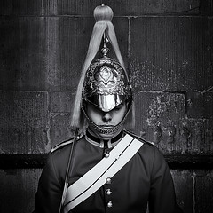 GUARDSMAN 1 (Nigel Bewley) Tags: whitehall london england uk guardsman pomp ceremony ceremonial guards householdcavalry lifeguards queenslifeguards britisharmy military uniform blackandwhite blackwhite canong1x londonist unlimitedphotos april april2017 nigelbewley