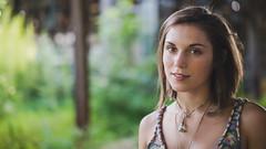 Paige 16:9 (Vincent F Tsai) Tags: portrait fashion widescreen crop cinematic bokeh girl outdoor naturallight summer necklace shorthair smile pretty panasonic leicadgnocticron425mmf12 lumixg7 dof
