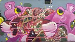 Nychos...Prahran, Melbourne... (colourourcity) Tags: streetart streetartnow streetartaustralia graffiti melbourne burncity awesome colourourcity colourourcitymelbourne nofilters art original nychos pinkpanther nychostheweird jbcb jukeboxcowboys murraysfoodstore rabbiteyemovement