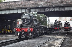 Great Central Railway Loughborough Leicestershire 19th April 2017 (loose_grip_99) Tags: greatcentral railway railroad rail train leicestershire eastmidlands england uk steam engine locomotive lms ivatt 2mt 260 46521 preservation transportation trains railways lougborough shed mpd depot april 2017 easter