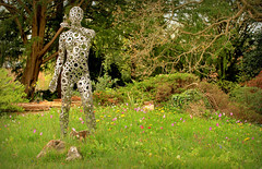 I am woman (John (thank you >1 million views)) Tags: 7dwf flowers landscapephotography bristolbotanicgardens metal sculpture art artinstallation stokebishop bristol southwestengland england flora bushes trees