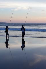 _MG_1708 (treilmann) Tags: beach fisherman seminyak sunset bali fishing